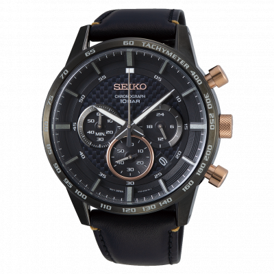 SEIKO SPORT CHRONOGRAPH QUARTZ 45MM MEN'S WATCH SSB361P1