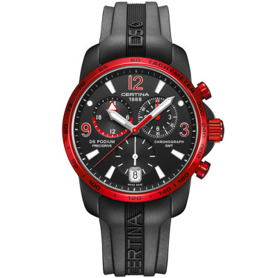 CERTINA DS PODIUM CHRONO GMT ALUMINIUM 42MM MEN'S WATCH C001.639.97.057.02