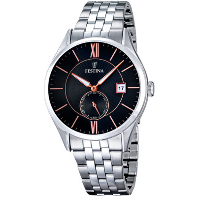 FESTINA RETRO 42.5MM  MEN`S WATCH F16871/4