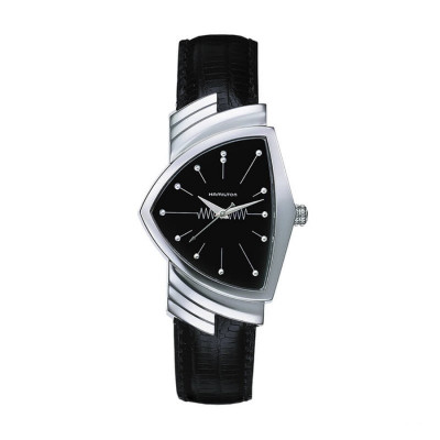 HAMILTON VENTURA LADY MAN IN BLACK QUARTZ WATCH H24411732