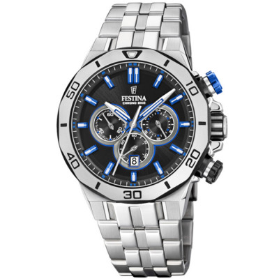 FESTINA CHRONO BIKE 44MM MEN`S WATCH  F20448/5