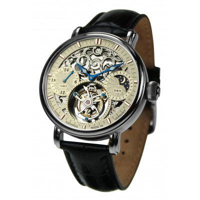 POLJOT INTERNATIONAL TOURBILLON SKELETON GMT HAND WINDING 43MM MEN'S WATCH LIMITED EDITION 100PIECES  3360.T05