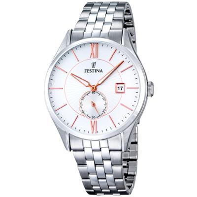 FESTINA  RETRO 42.5MM MEN`S WATCH F16871/2