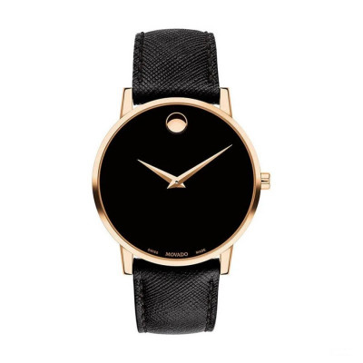 MOVADO MUSEUM QUARTZ 40MM MEN'S WATCH 607196