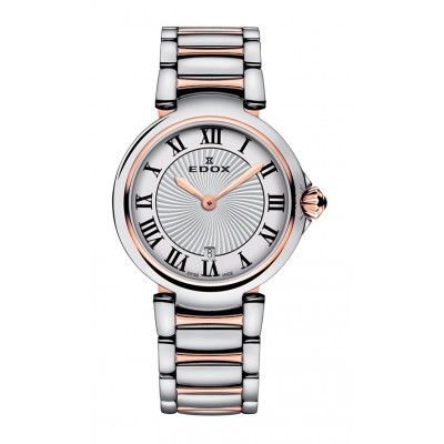 EDOX LAPASSION QUARTZ 29MM LADIES WATCH 57002 357RM AR