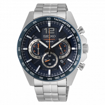 SEIKO SPORT CHRONOGRAPH QUARTZ 44MM MEN'S WATCH SSB345P1
