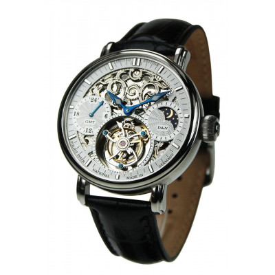POLJOT INTERNATIONAL TOURBILLON SKELETON GMT HAND WINDING 43MM MEN'S WATCH LIMITED EDITION 100PIECES  3360.T04