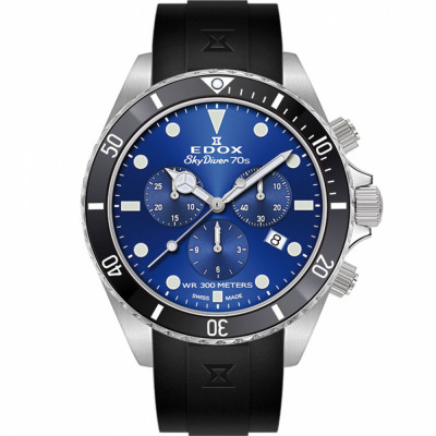 EDOX SKYDIVER 70'S CHRONOGRAPH 44MM MEN'S WATCH 10238 3NCA BUI