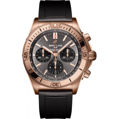 BREITLING CHRONOMAT B01 42 18K RED GOLD RB0134101B1S1