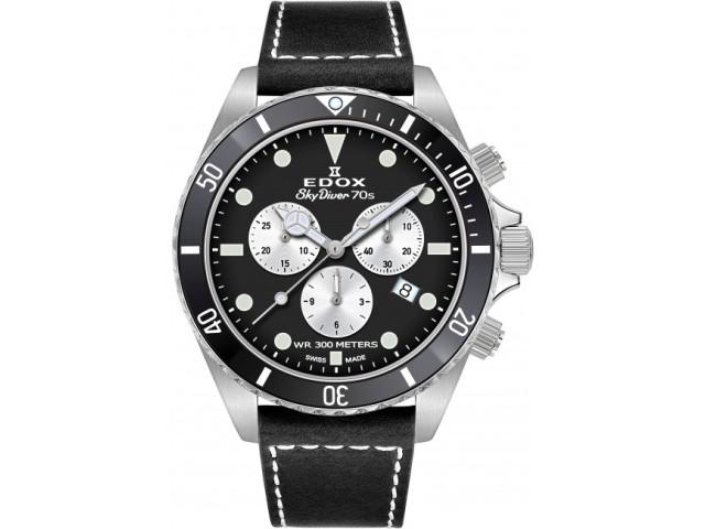 EDOX SKYDIVER 70'S CHRONOGRAPH 44 MM MEN'S WATCH 10238 3NC NIA