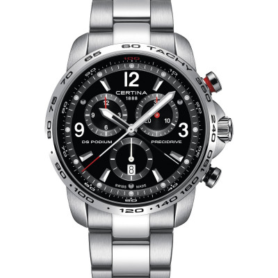 CERTINA DS PODIUM CHRONOGRAPH 1/100 SEC PRECIDRIVE 44MM MEN'S WATCH C001.647.11.057.00