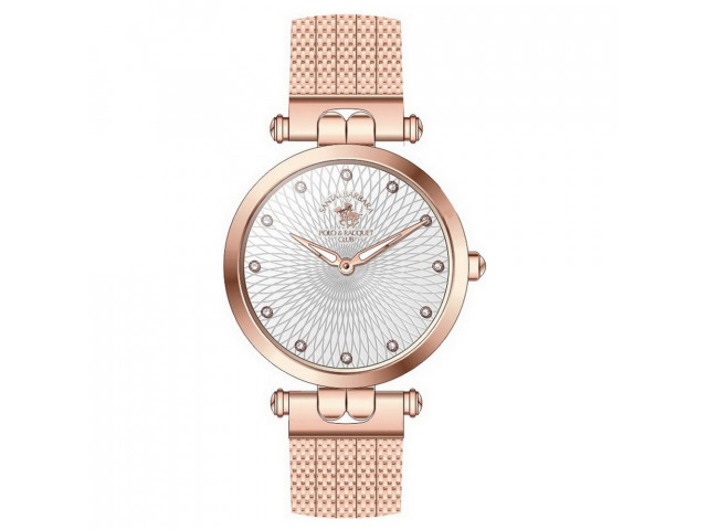 SANTA BARBARA POLO & RACQUET CLUB UNIQUE 34 MM LADY`S WATCH SB.16.1003.1