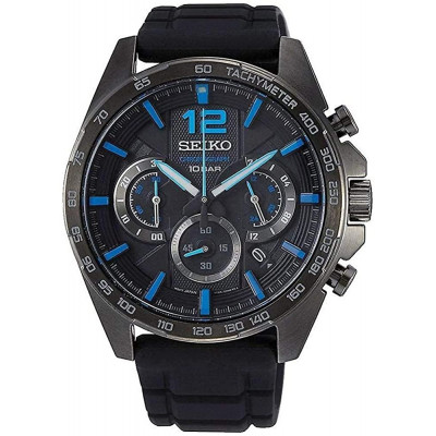 SEIKO SPORT CHRONOGRAPH QUARTZ 44MM MEN'S WATCH SSB353P1