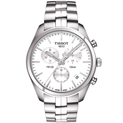 TISSOT PR 100 CHRONOGRAPH QUARTZ 41MM MENS WATCH T101.417.11.031.00