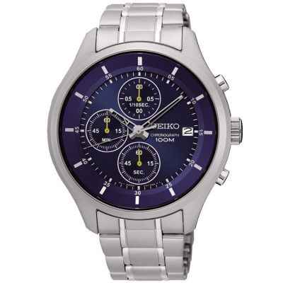 SEIKO SPORT CHRONOGRAPH QUARTZ 43MM MEN'S WATCH SKS537P1