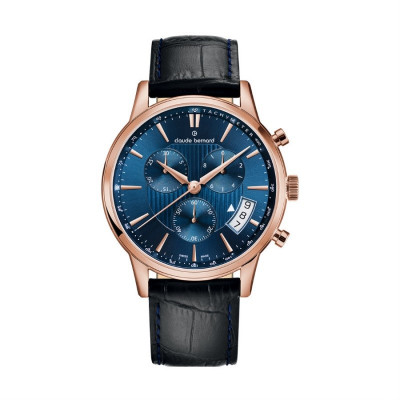 CLAUDE BERNARD CLASSIC CHRONO 42MM MEN'S WATCH 01002 37R BUIR