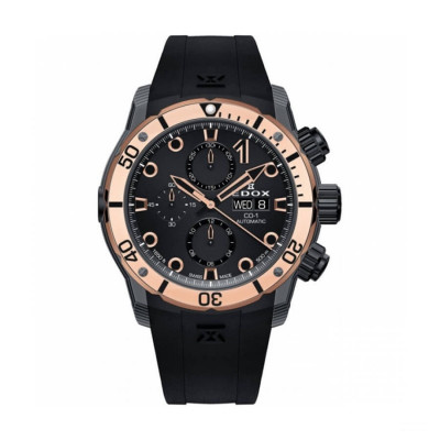 EDOX CLASS-1 CARBON CHRONOGRAPH AUTOMATIC 45MM MEN'S WATCH 01125 CLN5N NIR