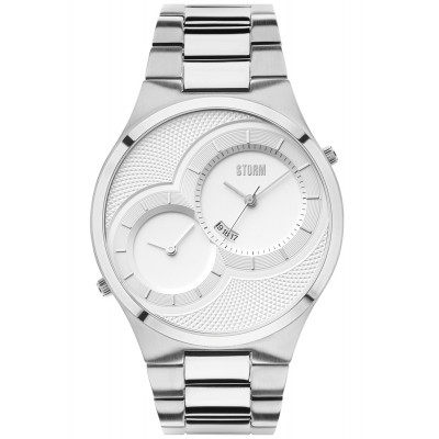 STORM LONDON DUODEX SILVER 45 MM MEN'S WATCH       47268S