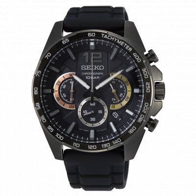 SEIKO CHRONOGRAPH QUARTZ 44MM MEN'S WATCH SSB349P1