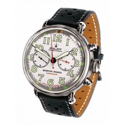 POLJOT INTERNATIONAL  MOSCOW NIGHTS  CHRONOGRAPH  HAND WINDING 43MM  MEN'S WATCH 2901.1940961
