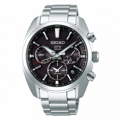SEIKO ASTRON GPS SOLAR DUAL TIME 43MM MEN'S WATCH SSH021J1