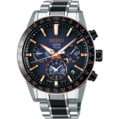 SEIKO ASTRON GPS SOLAR DUAL TIME 43.5MM LIMITED EDITION 2000PCS MEN'S WATCH SSH007J1
