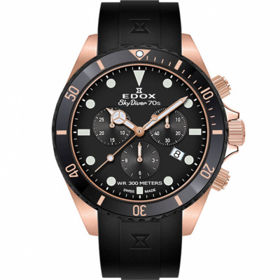 EDOX SKYDIVER 70'S CHRONOGRAPH 44MM MEN'S WATCH 10238 37RNNCA NI