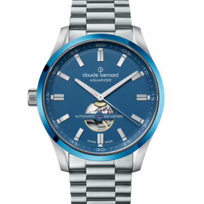 CLAUDE BERNARD AQUARIDER AUTO 44MM MEN'S WATCH 85026 3MBU BUIN