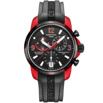 CERTINA DS PODIUM CHRONO GMT ALUMINIUM 42MM MEN'S WATCH C001.639.97.057.01