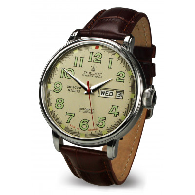 POLJOT INTERNATIONAL MOSCOW NIGHTS DAY&DATE AUTOMATIC 43MM MEN'S WATCH 2427.1540963