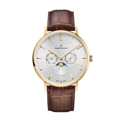 CLAUDE BERNARD SLIM LINE MOON FASE 41MM MEN'S WATCH 40004 37J AID