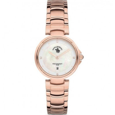 SANTA BARBARA POLO & RACQUET CLUB UNIQUE 30 MM LADY`S WATCH SB.11.1106.6