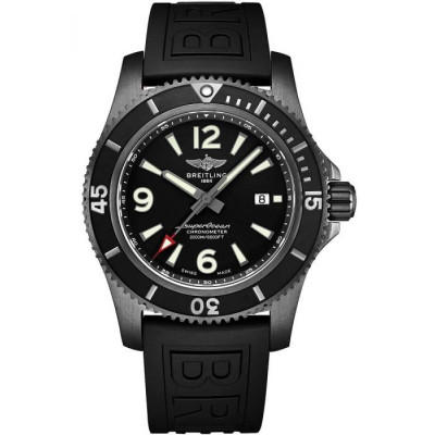 BREITLING SUPEROCEAN AUTOMATIC 46 BLACK STEEL MEN'S WATCH  M17368B71B1S1