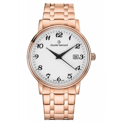 CLAUDE BERNARD CLASSIC GENTS 39 MM. WATCH 53007 37RM BB