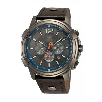 SERGIO TACCHINI DUAL TIME 48MM MEN`S WATCH ST.1.10046-5