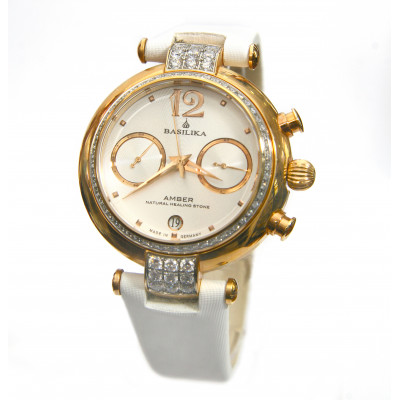 POLJOT INTERNATIONAL AMBER CHRONOGRAPH HAND WINDING 39.9MM LADIES WATCH  3133.7887801Z
