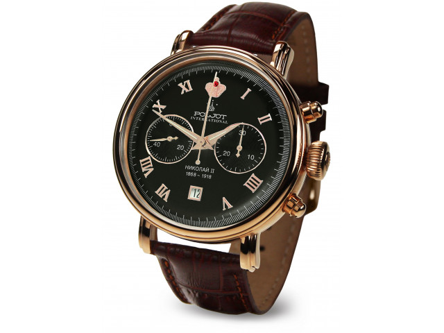 POLJOT INTERNATIONAL  NICOLAI II  CHRONOGRAPH HAND WINDING  43MM MEN'S WATCH  2901.1946613