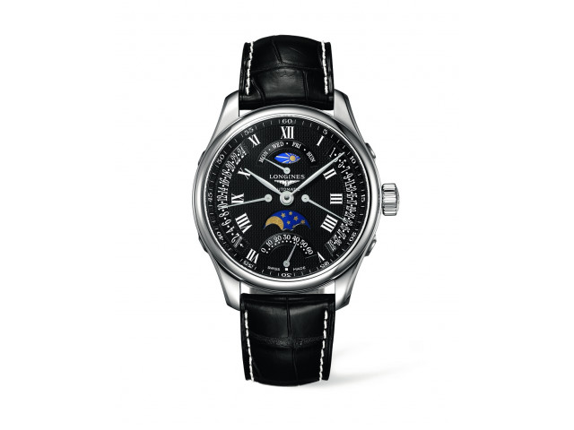 LONGINES MASTER COLLECTION RETROGRADE DAY&DATE&MOON PHASE  44MM MEN'S WATCH L2.739.4.51.7