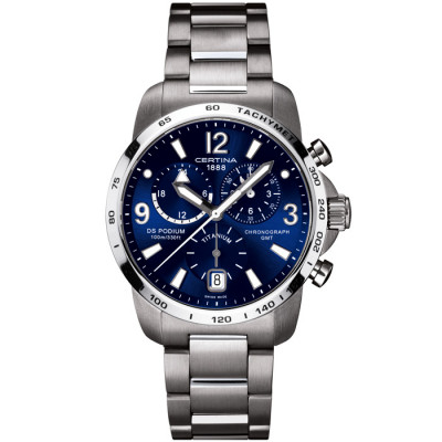 CERTINA DS PODIUM CHRONO GMT 42MM MEN'S WATCH C001.639.44.047.00