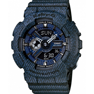 CASIO BABY-G DENIM SERIES   BA-110DC-2A1