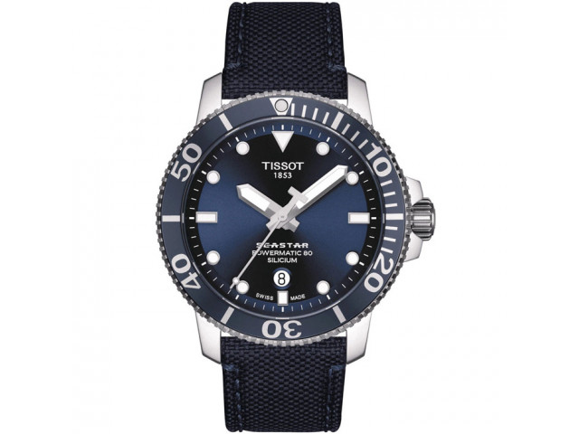TISSOT SEASTAR 1000 POWERMATIC80 SILICIUM 43MM MEN'S WATCH T120.407.17.041.01