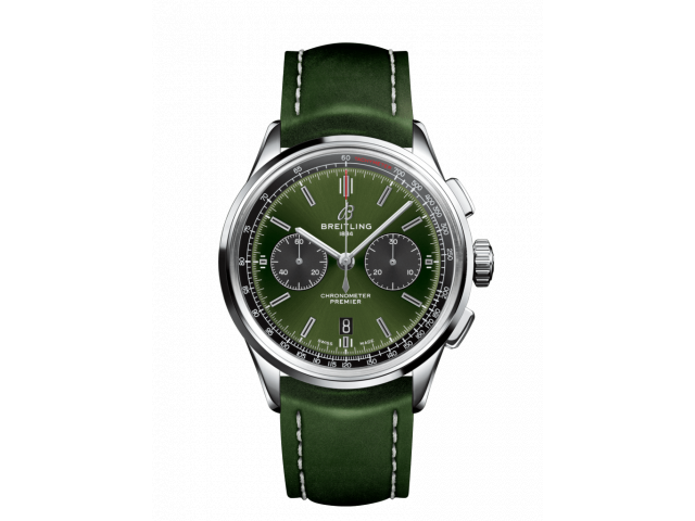 BREITLING PREMIER B01 CHRONOGRAPH 42 BENTLEY BRITISH RACING GREEN MEN'S WATCH AB0118A11L1X1