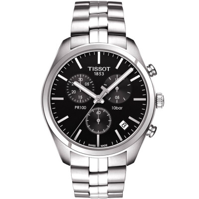 TISSOT PR 100 CHRONOGRAPH QUARTZ 41MM MENS WATCH T101.417.11.051.00