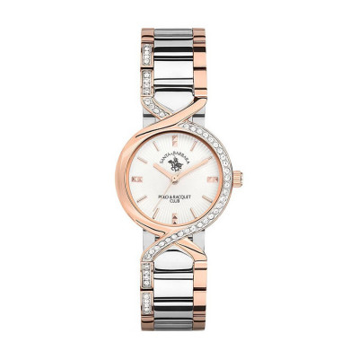 SANTA BARBARA POLO & RACQUET CLUB UNIQUE 28 MM LADY`S WATCH SB.3.1119.4