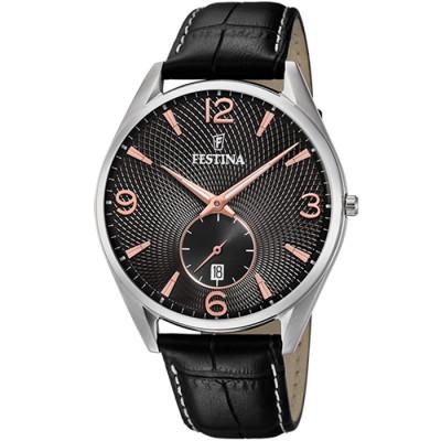 FESTINA RETRO 41 MM MEN`S WATCH F6857/9
