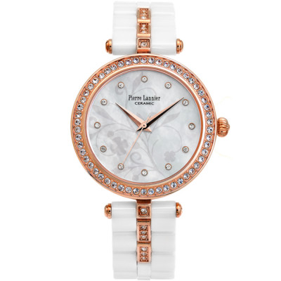 PIERRE LANNIER ELEGANCE CERAMIC 36MM LADY'S WATCH 198F990