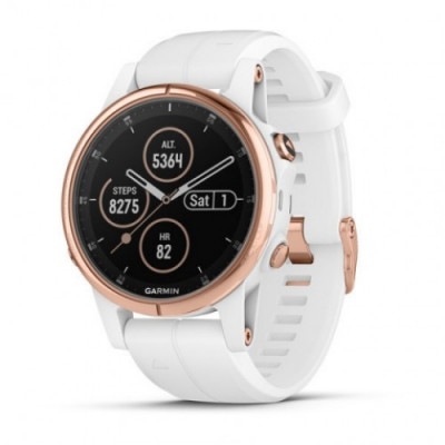 GARMIN FĒNIX® 5S PLUS SAPPHIRE ROSE GOLD WHITE 42MM 010-01987-07