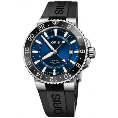 ORIS AQUIS GMT DATE 43.5MM MEN'S WATCH 798 7754 4135-07 4 24 64EB