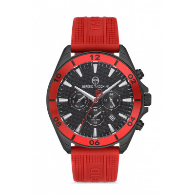 SERGIO TACCHINI DUAL TIME 45MM MEN`S WATCH ST.1.10088-5