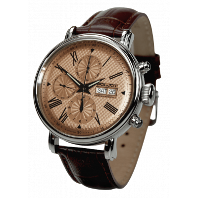 POLJOT INTERNATIONAL  BAIKAL DAY&DATE  CHRONOGRAPH AUTOMATIC 43MM MEN'S WATCH 7750.1940712